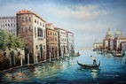 "GONDOLIER IN VENICE 24X36 "" OIL PAINTING  – image 2"
