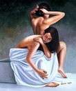 "NUDE ART - AFTER THE BATH 20X24 "" ORIGINAL OIL PAINTING  – image 2"