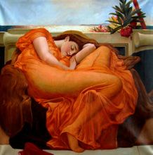 """LORD FREDERIC LEIGHTON - FLAMING JUNE - 48x48 """" OIL PAINTING REPRODUCTION MUSEUM QUALITY 001"""