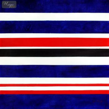 "MODERN ART - STRIPES  32X32 "" ORIGINAL OIL PAINTING – image 1"