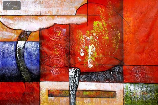 """ABSTRACT - PILLARS OF LIFE 24X36 """"  ORIGINAL OIL PAINTING ON CANVAS"""