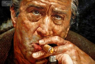 "MODERN ART POP ART - ROBERT DE NIRO PORTRAIT  24X36 ""  HIGH QUALITY – image 1"