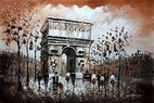 "MODERN ART - PARIS ARC DE TRIUMPH 24x36 "" CONTEMPORARY OIL PAINTING"