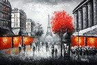 "MODERN ART - EIFFEL TOWER IN PARIS 24x36 "" ORIGINAL OIL PAINTING 001"