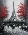 "MODERN ART - EIFFEL TOWER IN PARIS 16x20 "" ORIGINAL OIL PAINTING"