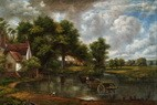 "JOHN CONSTABLE - THE HAY WAIN 24x36 "" REPRODUCTION OIL PAINTING – image 2"