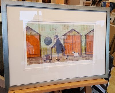 TAKING THE LITTLE TREE FOR A WALK Limited Edition Print by Sam Toft - Framed – image 2