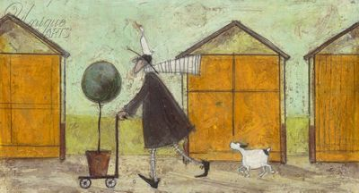 TAKING THE LITTLE TREE FOR A WALK Limited Edition Print by Sam Toft - Framed – image 1