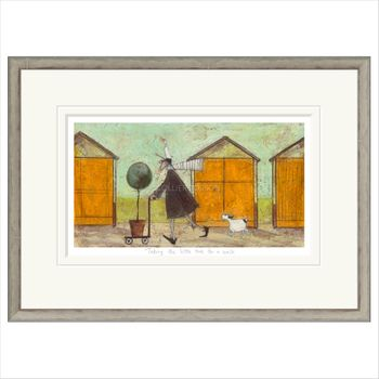 TAKING THE LITTLE TREE FOR A WALK Framed Limited Edition Print by Sam Toft  – image 1