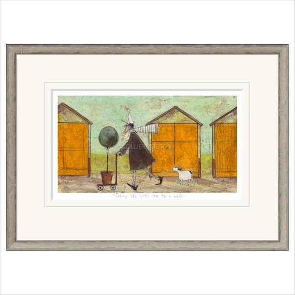 TAKING THE LITTLE TREE FOR A WALK Framed Limited Edition Print by Sam Toft