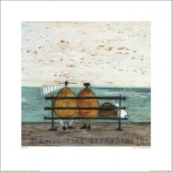 SAM TOFT -  PICNIC TIME APPROACHETH 40x40cm Artprint