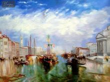 "WILLIAM TURNER - THE GRAND CANAL IN VENICE 36X48 "" OIL PAINTING 001"