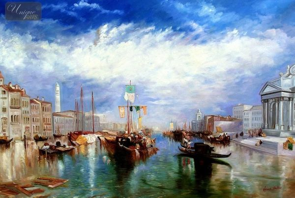 "WILLIAM TURNER - THE GRAND CANAL IN VENICE 48X72 "" OIL PAINTING MUSEUM QUALITY"