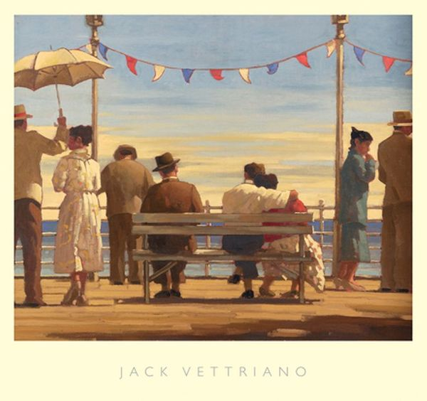 "Jack Vettriano ""The Pier"" 67x72 cm Art Print"