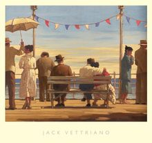 "Jack Vettriano ""The Pier"" 67x72 cm Art Print 001"
