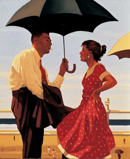 jack Vettriano - Bad Boy , Bad Girl 40x50 cm Art Print