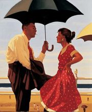 jack Vettriano - Bad Boy , Bad Girl 40x50 cm Art Print 001