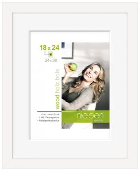 Nielsen Apollo Matt White Wood Picture Frame 30x40 cm A4 Mount – image 2
