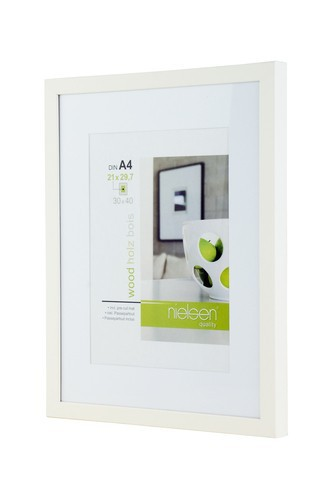 Nielsen Apollo Matt White Wood Picture Frame 30x40 cm A4 Mount