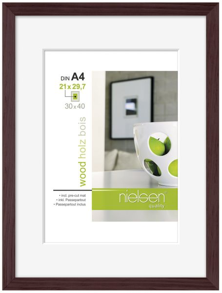 Nielsen Apollo Wenge Wood Picture Frame 30x40 cm A4 Mount