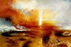 "WILLIAM TURNER - THE SLAVE SHIP  24X36 "" OIL PAINTING REPRODUCTION – image 2"