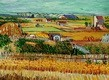 "VINCENT VAN GOGH - HARVEST LANDSCAPE  12X16 "" OIL PAINTING REPRODUCTION – image 2"