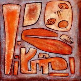 Modern Art - The Totem  120x120 cm Original Oil Painting