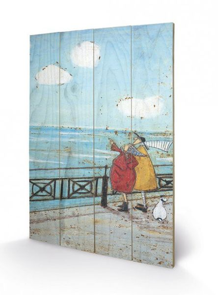 SAM TOFT HER FAVOURITE CLOUD - Print on Wood