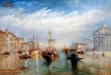 "WILLIAM TURNER - THE GRAND CANAL IN VENICE  24X36 "" OIL PAINTING MUSEUM QUALITY 001"