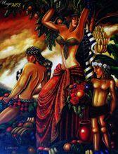 Modern Art - The Mantis  90x120 cm Original Oil Painting  001