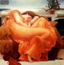 "LORD FREDERICK LEIGHTON - FLAMING JUNE 36X36 "" OIL PAINTING MUSEUM QUALITY 001"