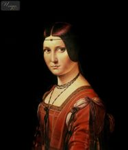 Leonardo Da Vinci - Portrait Of Lucrezia Crivelli 50x60 cm Reproduction Oil Painting Museum Quality 001