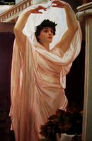 "LORD FREDERICK LEIGHTON - INVOCATION 24X36 ""  OIL PAINTING MUSEUM QUALITY 001"