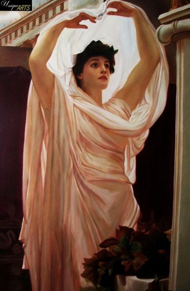 "LORD FREDERICK LEIGHTON - INVOCATION 24X36 ""  OIL PAINTING MUSEUM QUALITY – image 1"