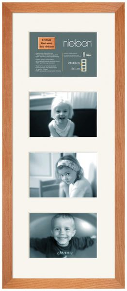 Nielsen Essentielles Birch 25x60 cm Multi 4-Aperture 15x10 cm , Multi-Photo Wooden Frames