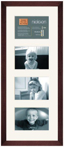 Nielsen Essentielles Palisander 25x60 cm Multi 4-Aperture 15x10 cm , Multi-Photo Wooden Frames