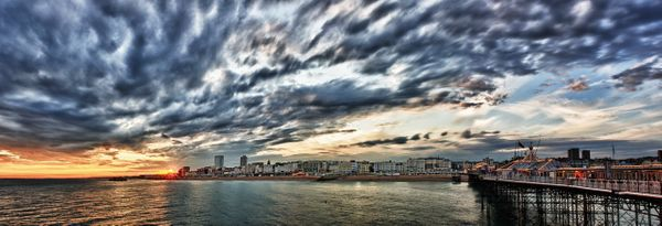 Brighton Promanade HDR - Fineart Photography by David Freeman