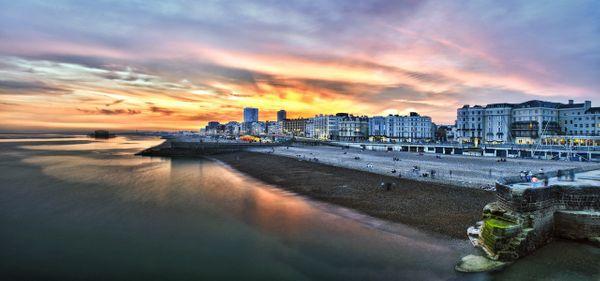 Brighton Promanade Sunset - Fineart Photography by David Freeman