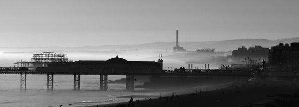 Sea Mist, Brighton Seafront - Fineart Photography by David Freeman