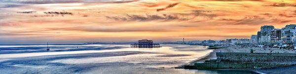 Brighton Sunset Panorama - Fineart Photography by David Freeman