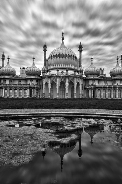 HDR Brighton Pavilion B&W - Fineart Photography by David Freeman