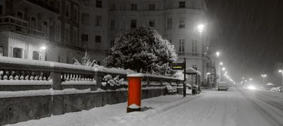 Brighton Coast Road in he snow - Fineart Photography by David Freeman