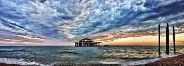 West Pier H Sunset - Fineart Photography by David Freeman
