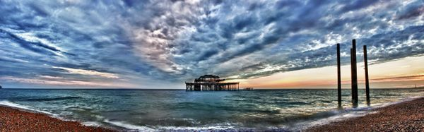 West Pier HDR Sunset - Fineart Photography by David Freeman