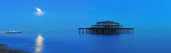West Pier by Moonlight - Fineart Photography by David Freeman