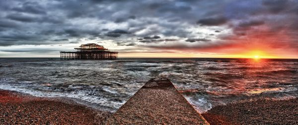 West Pier Sunset - Fineart Photography by David Freeman