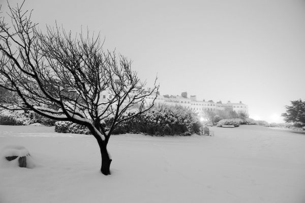 Kemptown Enclosures in the snow - Fineart Photography by David Freeman