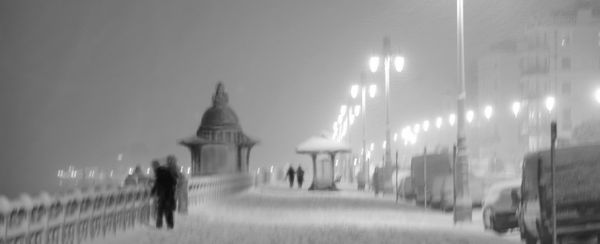 Brighton Promanade in ghe snow - Fineart Photography by David Freeman