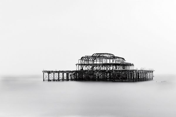 West Pier in the Snow - Fineart Photography by David Freeman