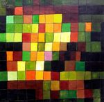"PAUL KLEE - ANCIENT SOUND  48X48 "" OIL PAINTING REPRODUCTION 001"